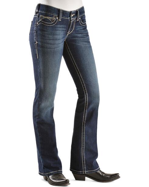 Ariat Women's Real Denim Spitfire Boot Cut Riding Jeans, Denim, hi-res