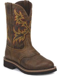 Justin Men's Rugged  Stampede Waterproof Work Boots, , hi-res