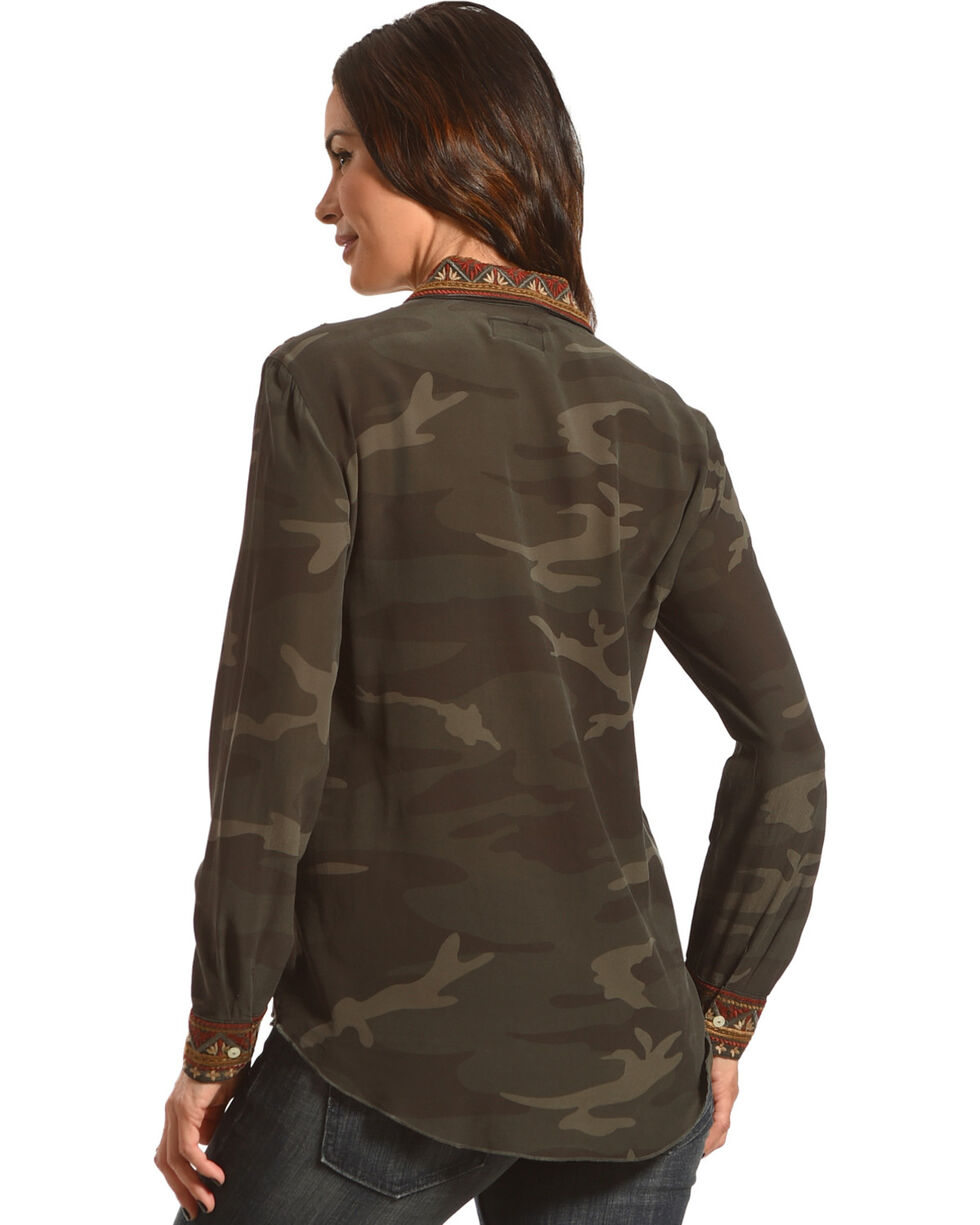 Johnny Was Women's Camo Valea Long Sleeve Basic Shirt , Camouflage, hi-res