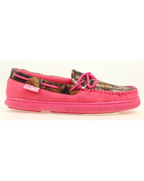 Blazin Roxx Women's All Weather Pink and Camo Moccasins, , hi-res