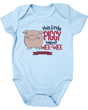 Farm Boy Infant Little Piggy Onesie, Blue, hi-res