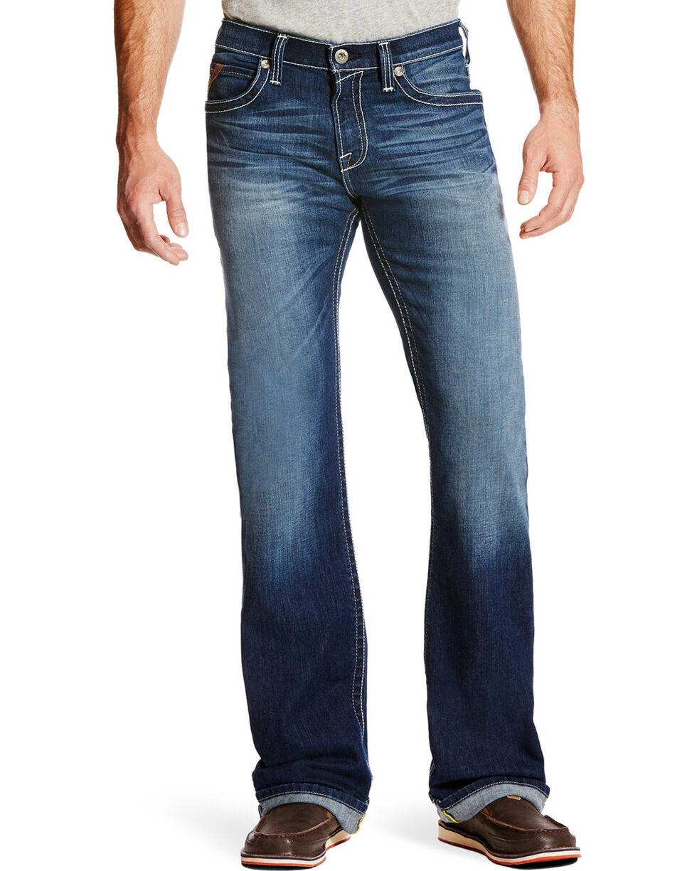 Ariat Men's M7 Rocker TEKStretch Denim Jeans - Boot Cut, Blue, hi-res
