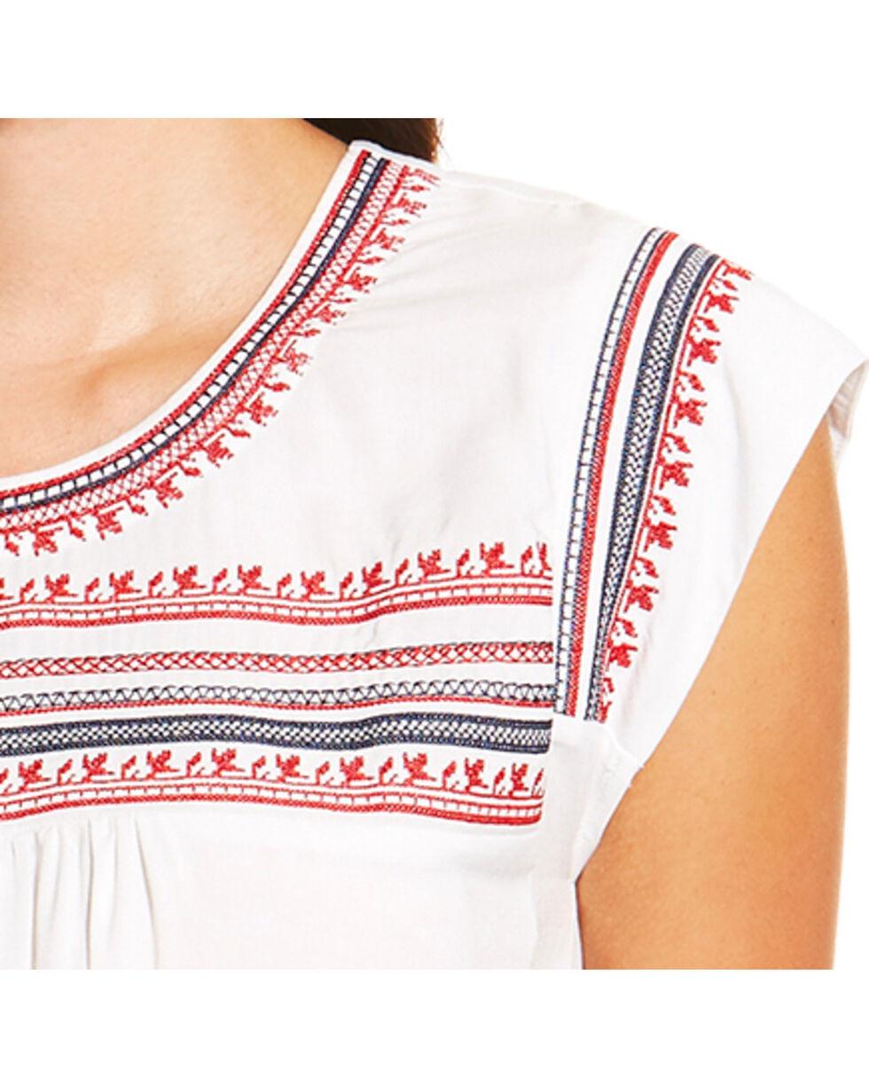 Ariat Women's Brandy Short Sleeve Top, White, hi-res