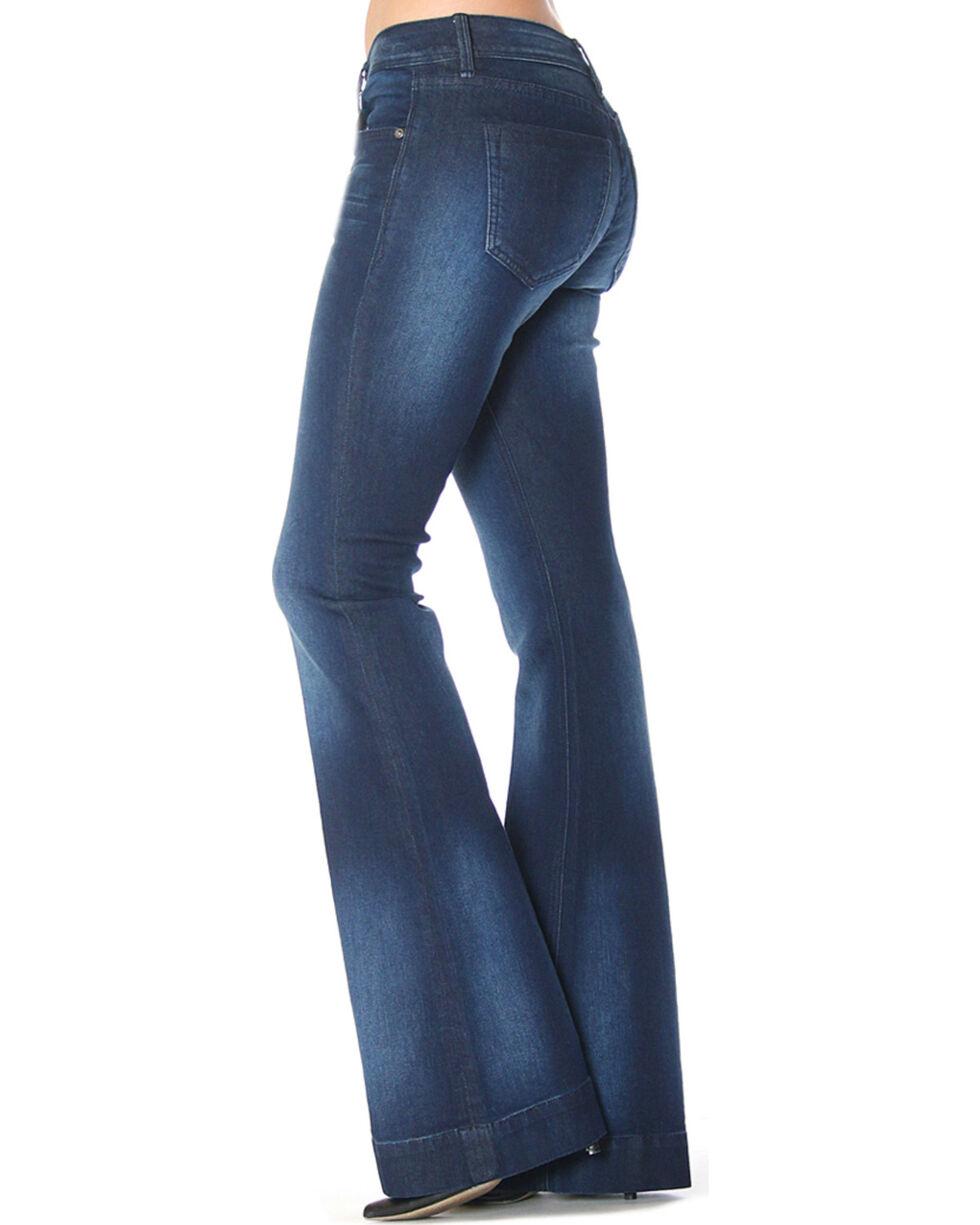 Grace in LA Women's Simple Flare Trousers , Indigo, hi-res