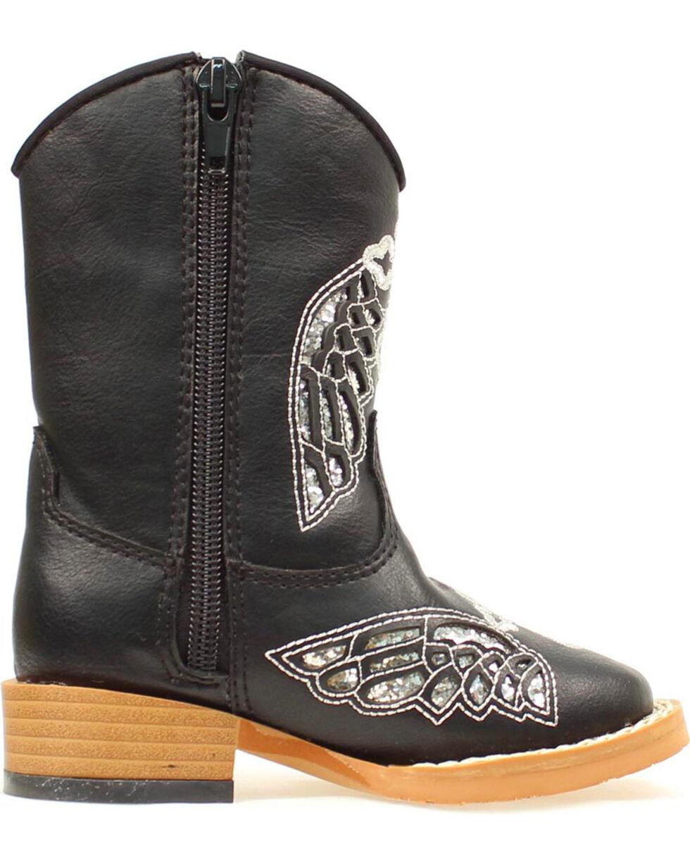 Blazzin Rocks Girls' Gracie Wing Cross Zip Boot, Black, hi-res