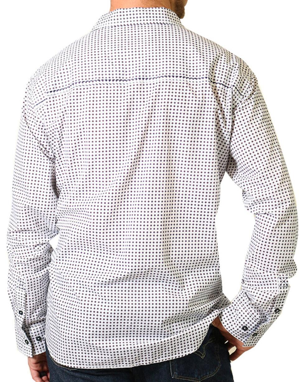 Cody James® Print Long Sleeve Western Shirt, White, hi-res