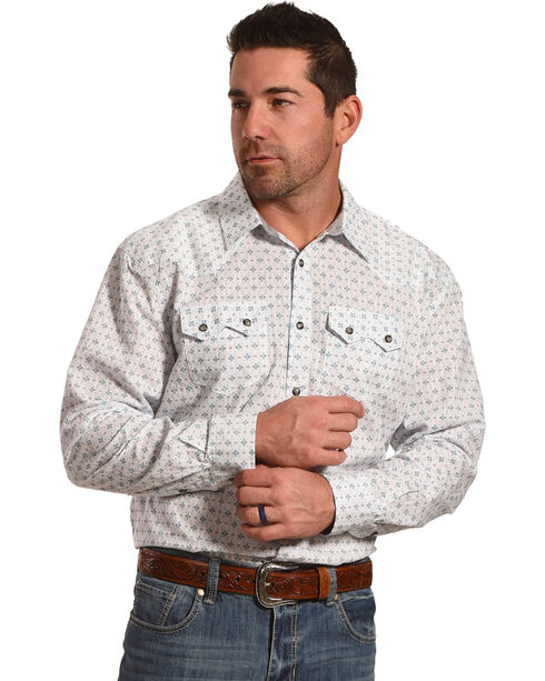 Moonshine Spirit Men's Lightning Western Long Sleeve Shirt, White, hi-res