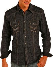 Rock & Roll Cowboy Men's Paisley Print Long Sleeve Shirt, , hi-res