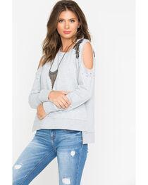 Shyanne Women's Sequin Cold Shoulder Sweater , , hi-res