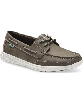 Eastland Men's Benton Boat Shoes - Moc Toe , Grey, hi-res