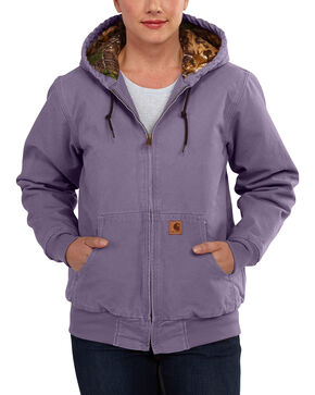 Carhartt Women's Sandstone Active Camo-Lined Jacket, Purple, hi-res