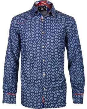 Rock Roll n Soul Men's One Shot Long Sleeve Shirt, Blue, hi-res