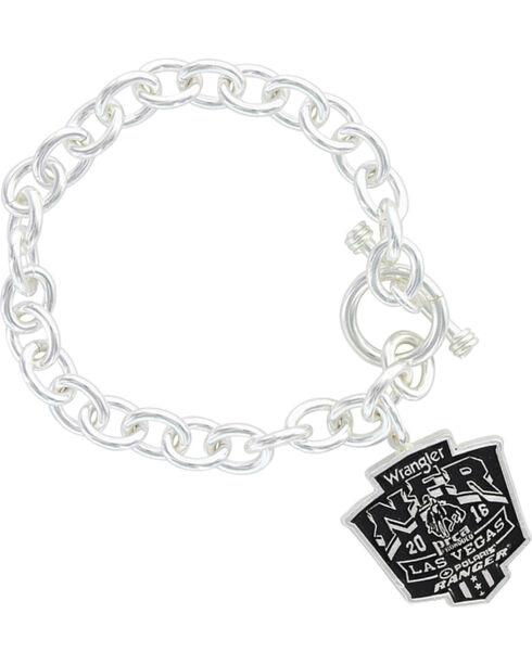 Montana Silversmiths 2016 WNFR Shield Link Charm Bracelet  , Silver, hi-res