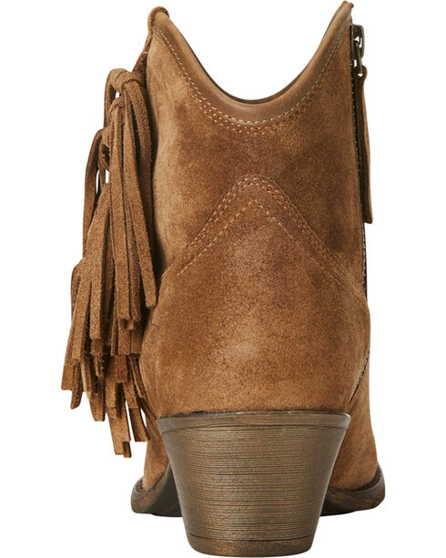 Ariat Women's Tan Duchess Braided Fringe Short Western Boots - Round Toe, Tan, hi-res