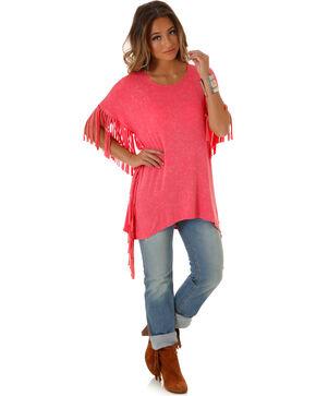 Wrangler Women's Pink Fringe Top , Pink, hi-res