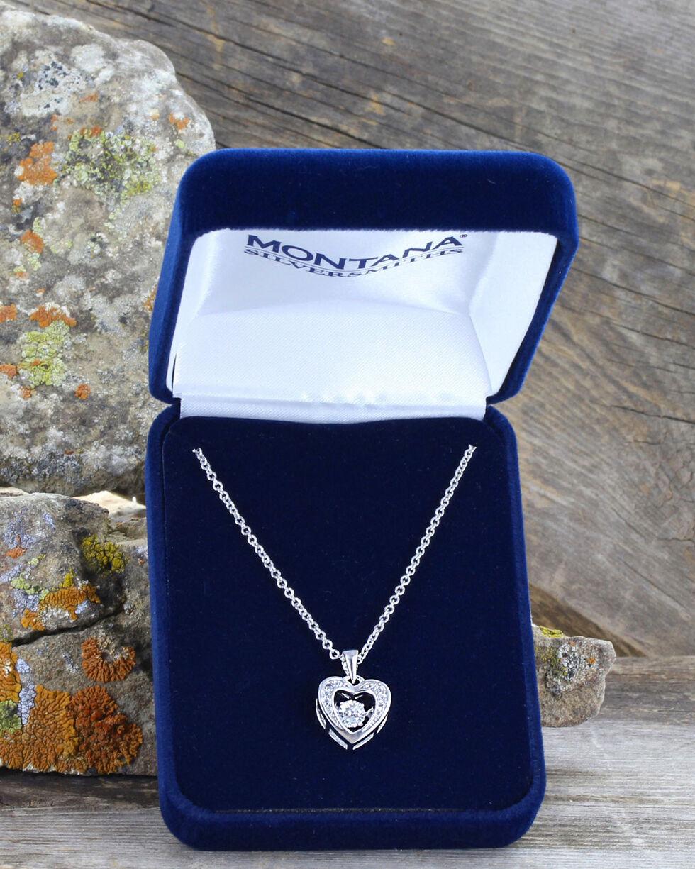 Montana Silversmiths Women's Let's Dance A Little Dance Heart Necklace , Silver, hi-res