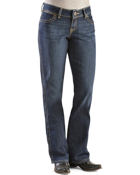 Wrangler Women's Premium Patch Mae Boot Cut Jeans, Denim, hi-res
