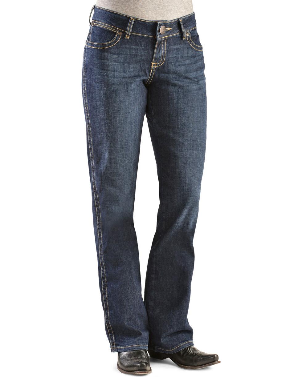 Wrangler Women's Premium Patch Mae Boot Cut Jeans, Denim, hi-res