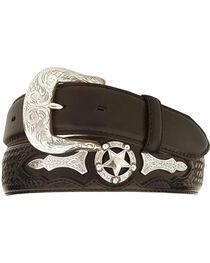 Justin Odessa Star Leather Belt, , hi-res
