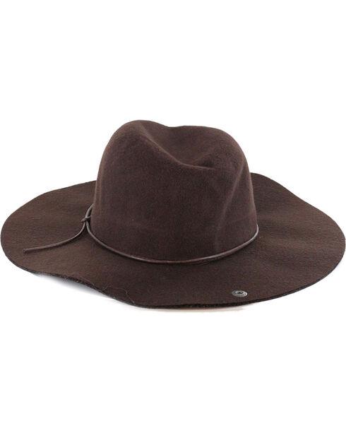 Peter Grimm Women's Janis Blended Wide Brim Floppy Hat, Brown, hi-res