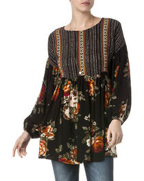 Miss Me Women's Sweet Floral Peasant Tunic , , hi-res