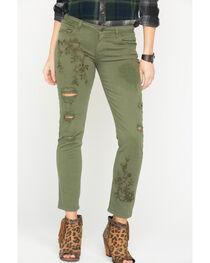 MM Vintage Women's Green Cassie Easy Jeans - Straight Leg, , hi-res