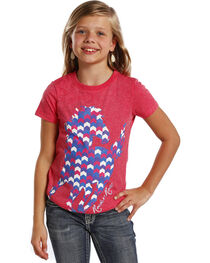 Rock & Roll Cowgirl Girls' Short Sleeve Horse T-Shirt , , hi-res