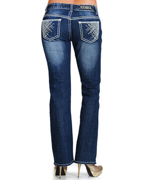 Rock & Roll Denim Women's Low Rise Boot Cut Jeans, Blue, hi-res