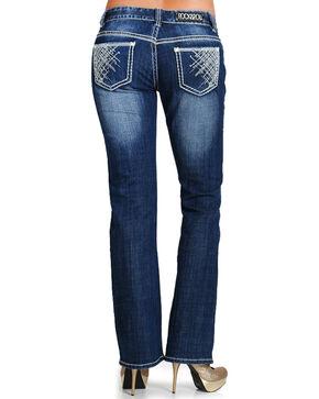 Rock & Roll Denim Women's Low Rise Boot Cut Jeans, Blue, hi-res