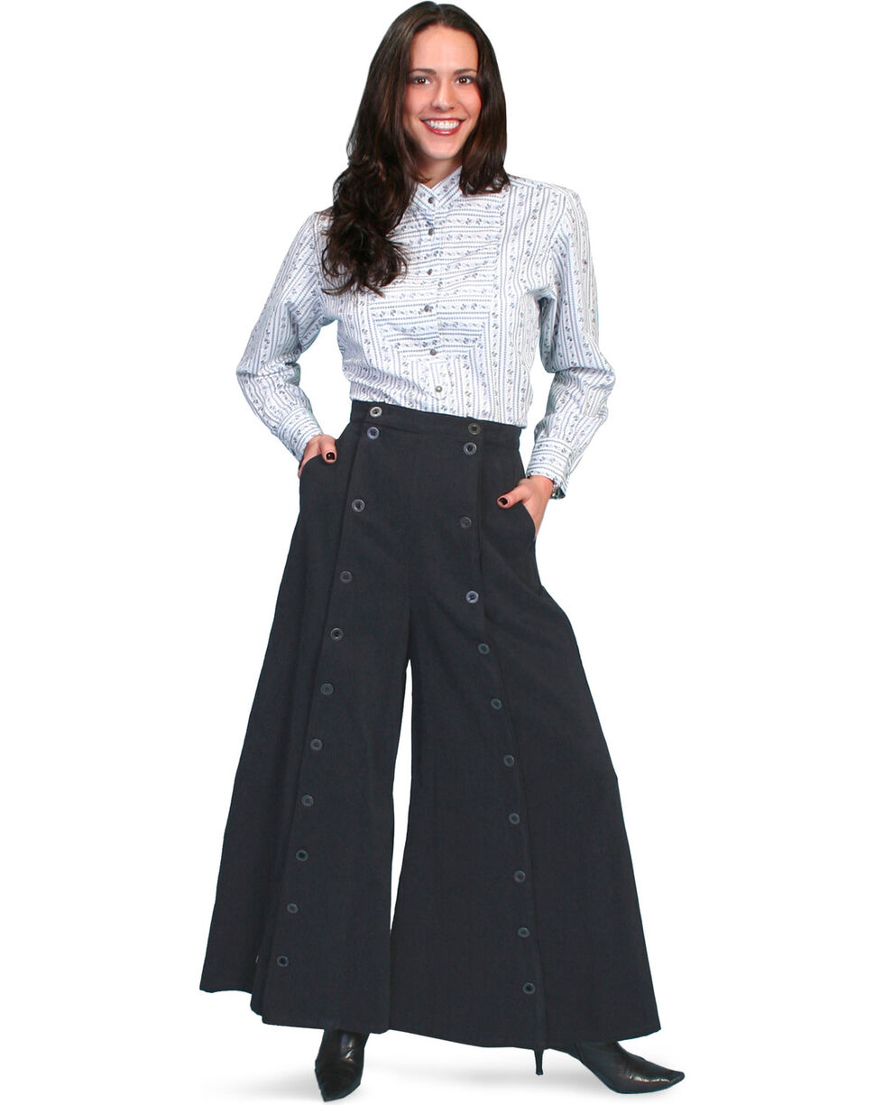 Rangewear by Scully Brushed Twill Riding Skirt, Black, hi-res