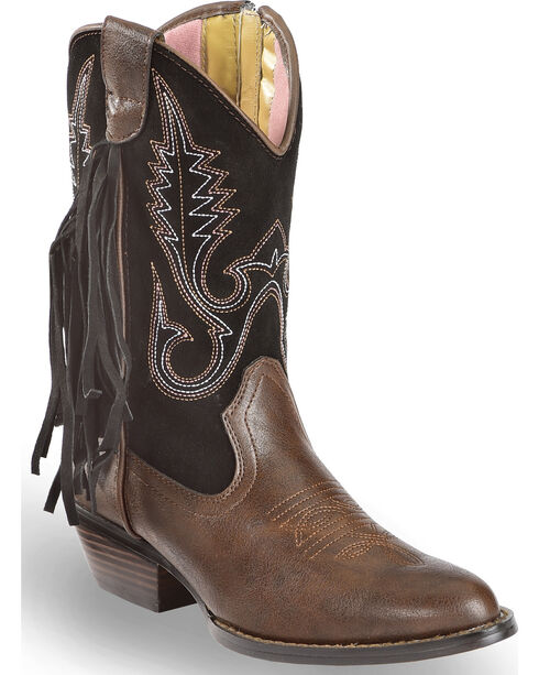 Smoky Mountains Women's Clara Western Boots - Round Toe , Brown, hi-res