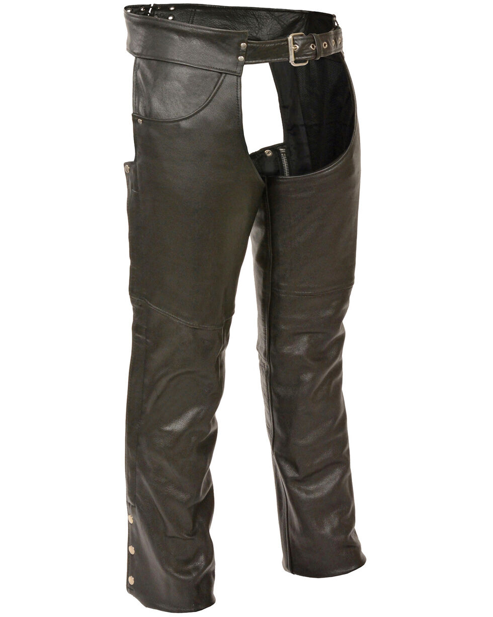 Milwaukee Leather Men's Classic Chap With Jean Pockets - Tall, Black, hi-res