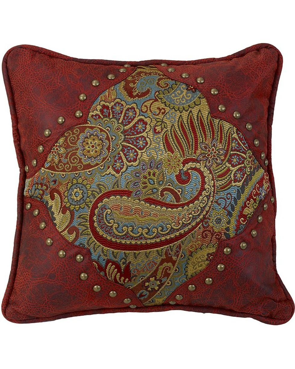 HiEnd Accents San Angelo Paisley Print Pillow, Multi, hi-res