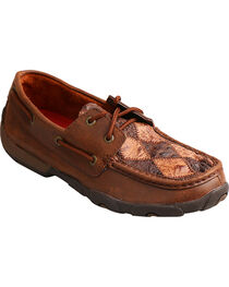 Twisted X Women's Ostrich Driving Moc Toe Shoes, , hi-res