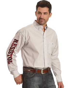 Resistol Men's White Stockbridge Marketing Snap Shirt , White, hi-res
