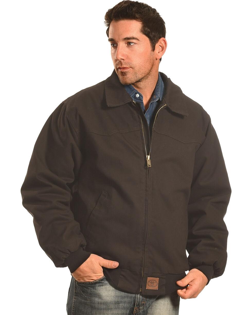 Forge Workwear Men's Black Canvas Jacket , Black, hi-res
