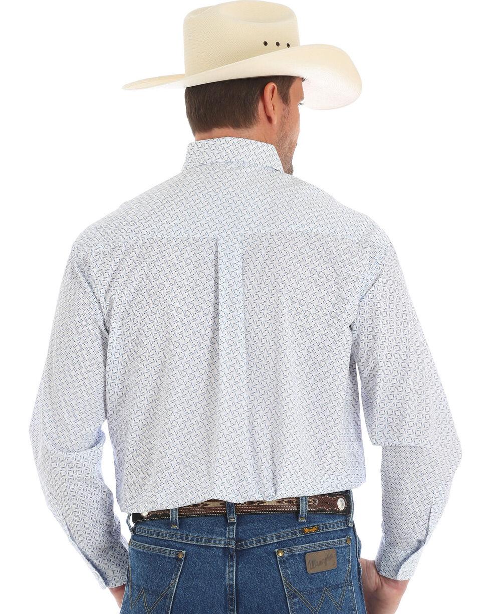 Wrangler George Strait Men's White Long Sleeve Shirt - Tall , Blue, hi-res