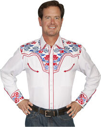 Scully Multi-Colored Floral Embroidered Shirt - Big and Tall, , hi-res
