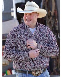 Cinch Men's Plain Weave Printed Long Sleeve Shirt, , hi-res