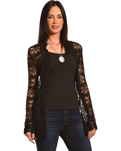 Young Essence Women's Long Sleeve Lace Cardigan | Boot Barn