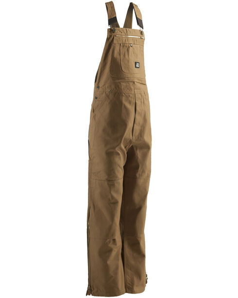Berne Men's Original Unlined Duck Bib Overalls - Big, Brown, hi-res
