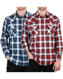 Ely Walker Men's Assorted Plaid Long Sleeve Shirt, , hi-res