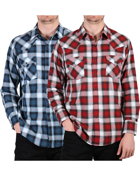 Ely Walker Men's Assorted Plaid Long Sleeve Shirt, Multi, hi-res