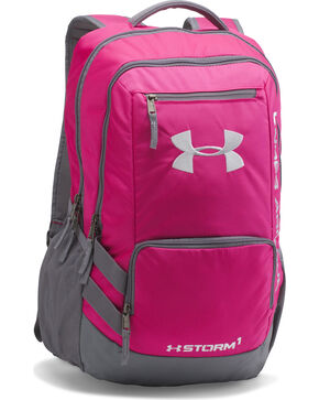 Under Armour Girls' Tropic Pink Storm Hustle II Backpack , Pink, hi-res