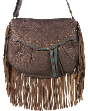 Way West Women's Hannah Fringe Crossbody Bag, Brown, hi-res