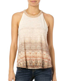 Miss Me Women's Chevron Tie Back Tank, , hi-res