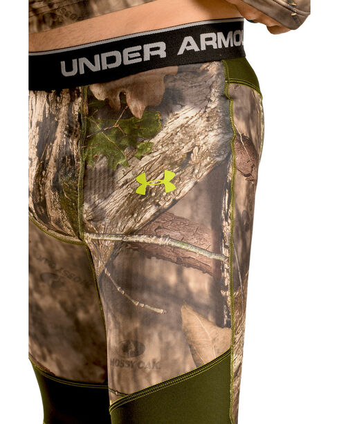 Under Armour Men's ColdGear Infrared Scent Control Camo Leggings, Mossy Oak, hi-res