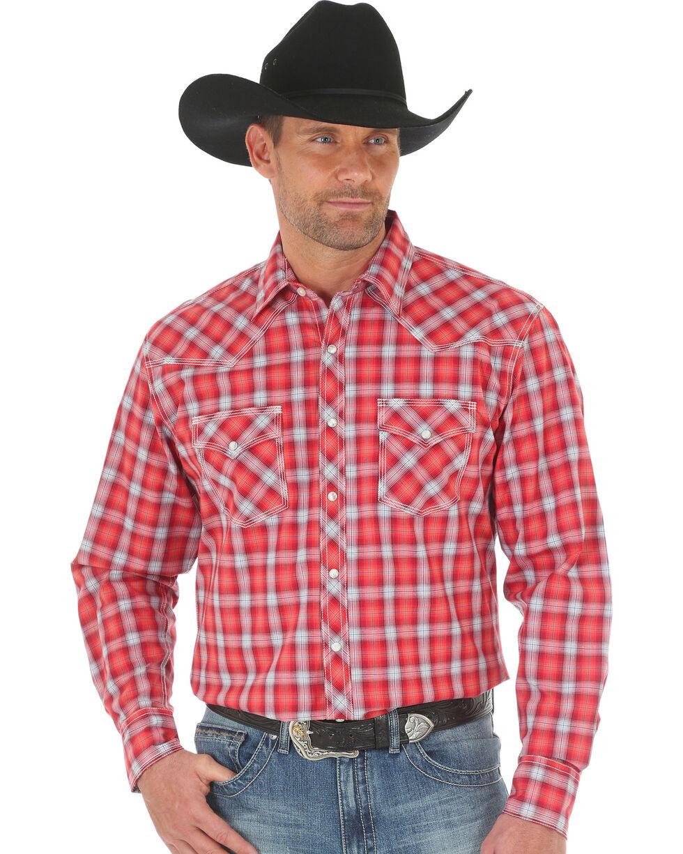 Wrangler Men's 20X Advanced Comfort Plaid Shirt , Red, hi-res