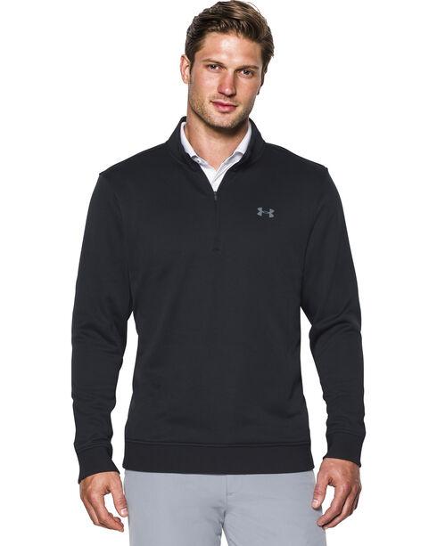 Under Armour Men's Black Storm Sweater Fleece 1/4 Zip Pullover , Black, hi-res