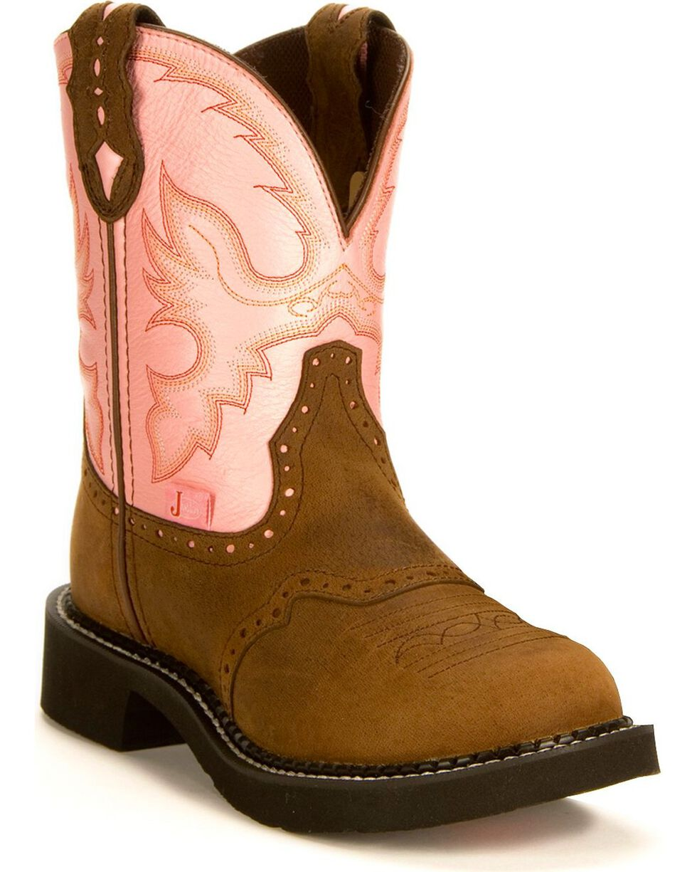 """Justin Women's Gypsy Collection 8"""" Western Boots, Bay Apache, hi-res"""